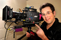 John on set of a documentary in London with an Arri Alexa on the Master Steadicam