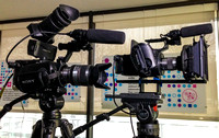 FS700 and FS700 filming interviews in London
