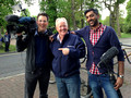Filming Keith Chegwin