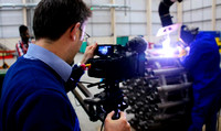 Industrial corporate slow motion filming